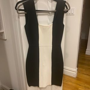 BCBG black and white bodycon